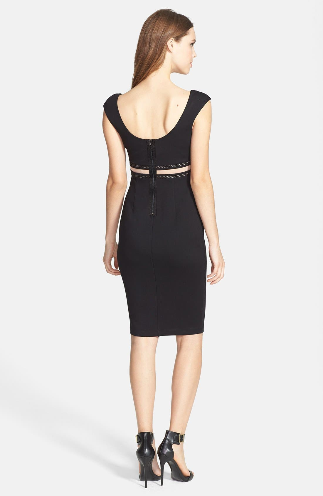 Alternate Image 2  - B44 Dressed by Bailey 44 'Bardot' Illusion Waist Ponte Sheath Dress