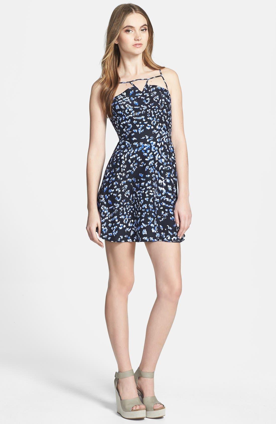 Alternate Image 1 Selected - Parker 'Jensen' Print Silk Fit & Flare Dress
