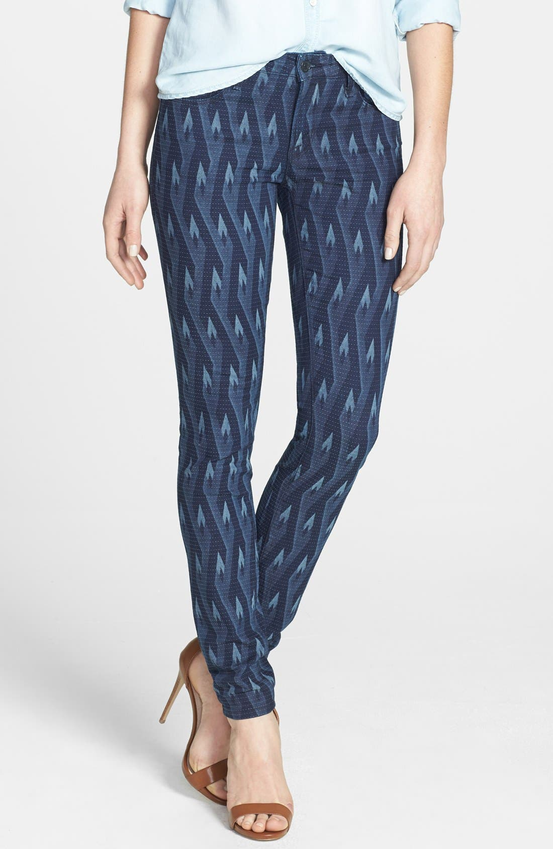 Alternate Image 1 Selected - MARC BY MARC JACOBS 'Gaia' Print Super Skinny Jeans (Diamond Flame)