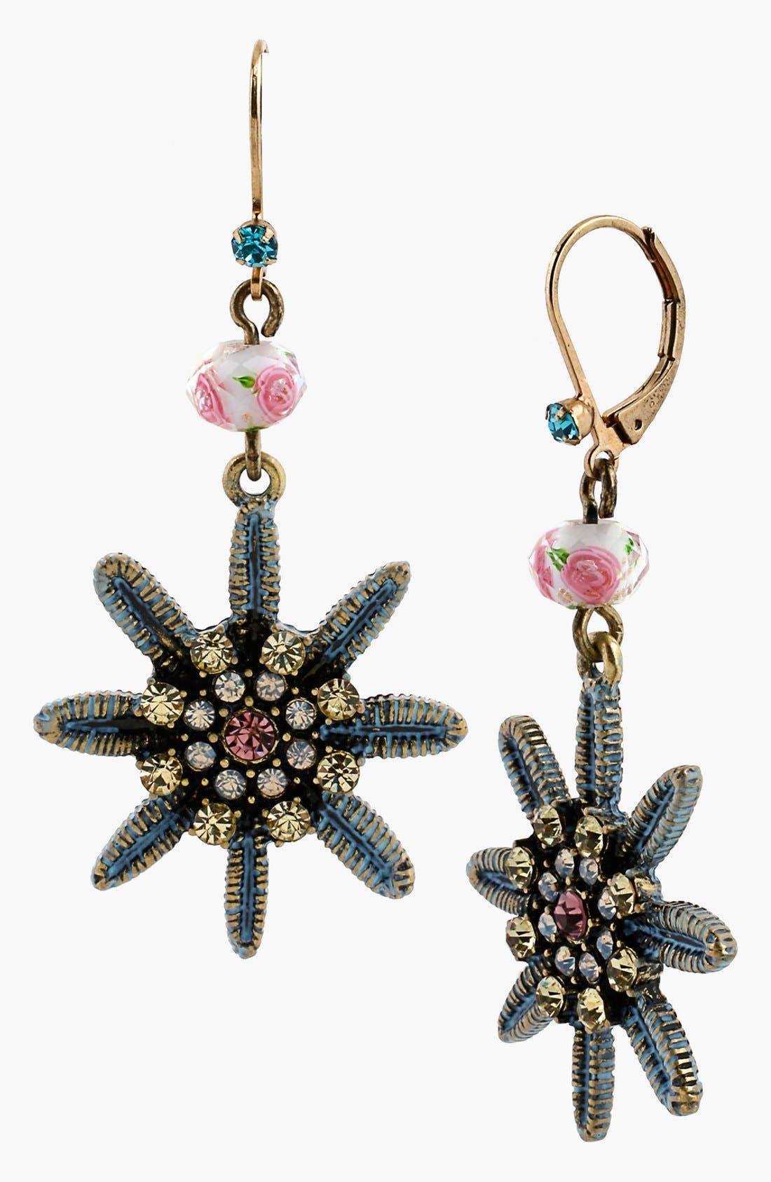 Alternate Image 1 Selected - Betsey Johnson 'Girlie Grunge' Flower Drop Earrings