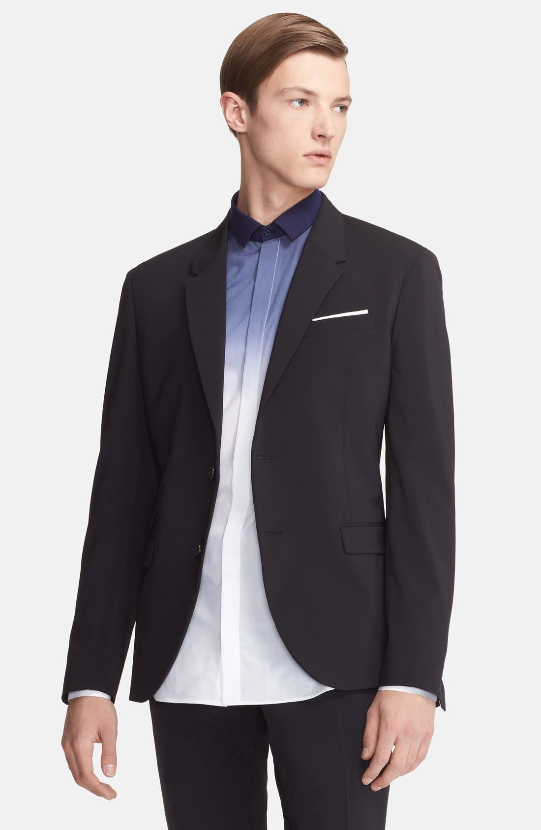 Alternate Image 3  - Neil Barrett Slim Fit Techno Stretch Suit