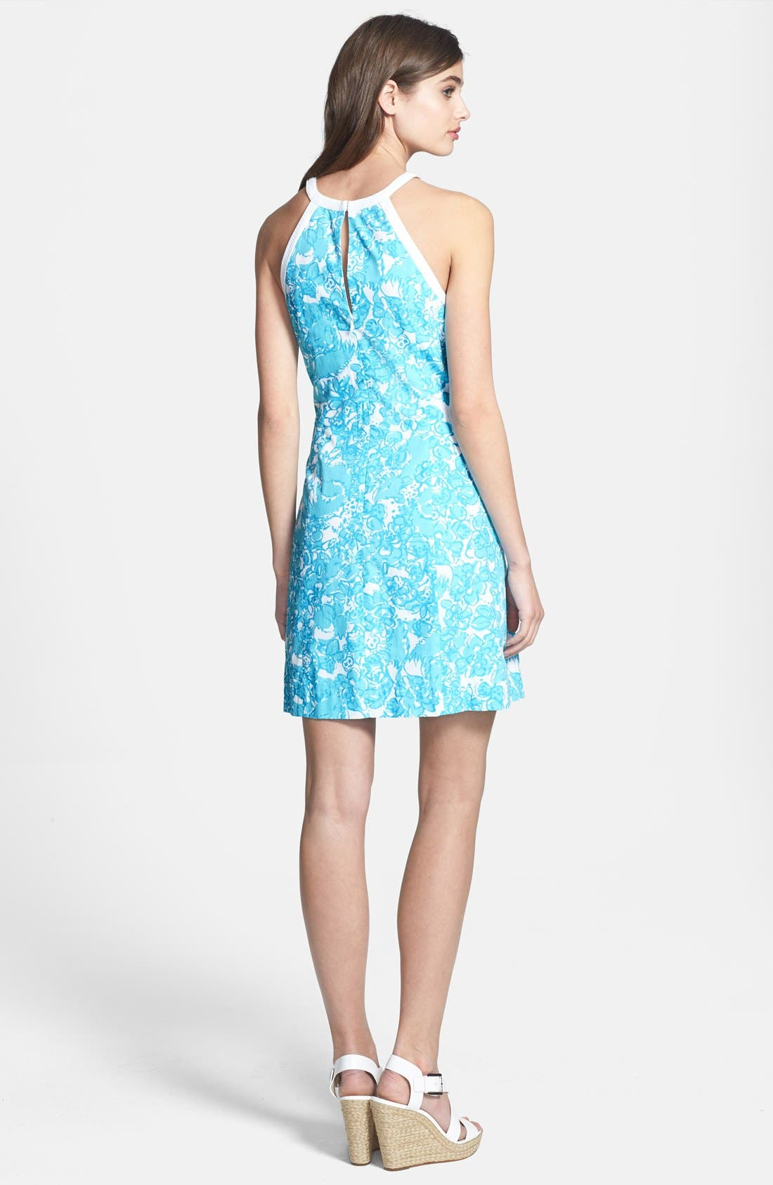 Alternate Image 2  - Lilly Pulitzer 'Pearl' Lace Trim Shift Dress