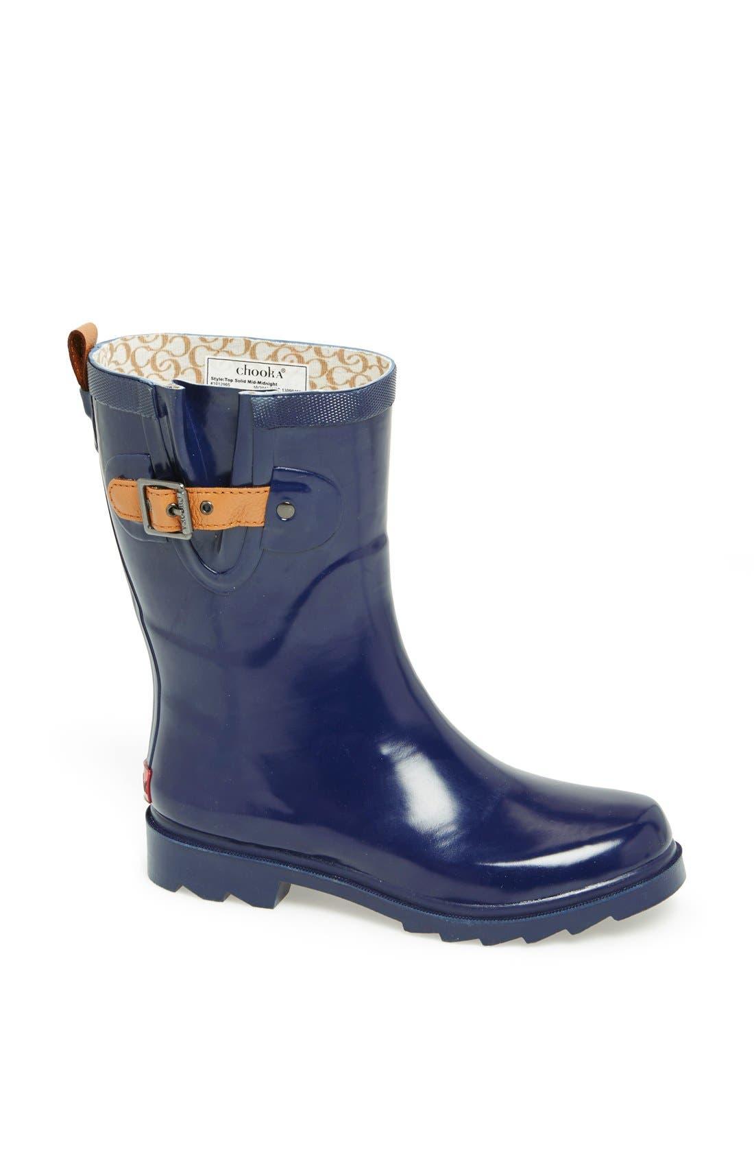 Alternate Image 1 Selected - Chooka 'Top Solid Mid Height' Rain Boot (Women)