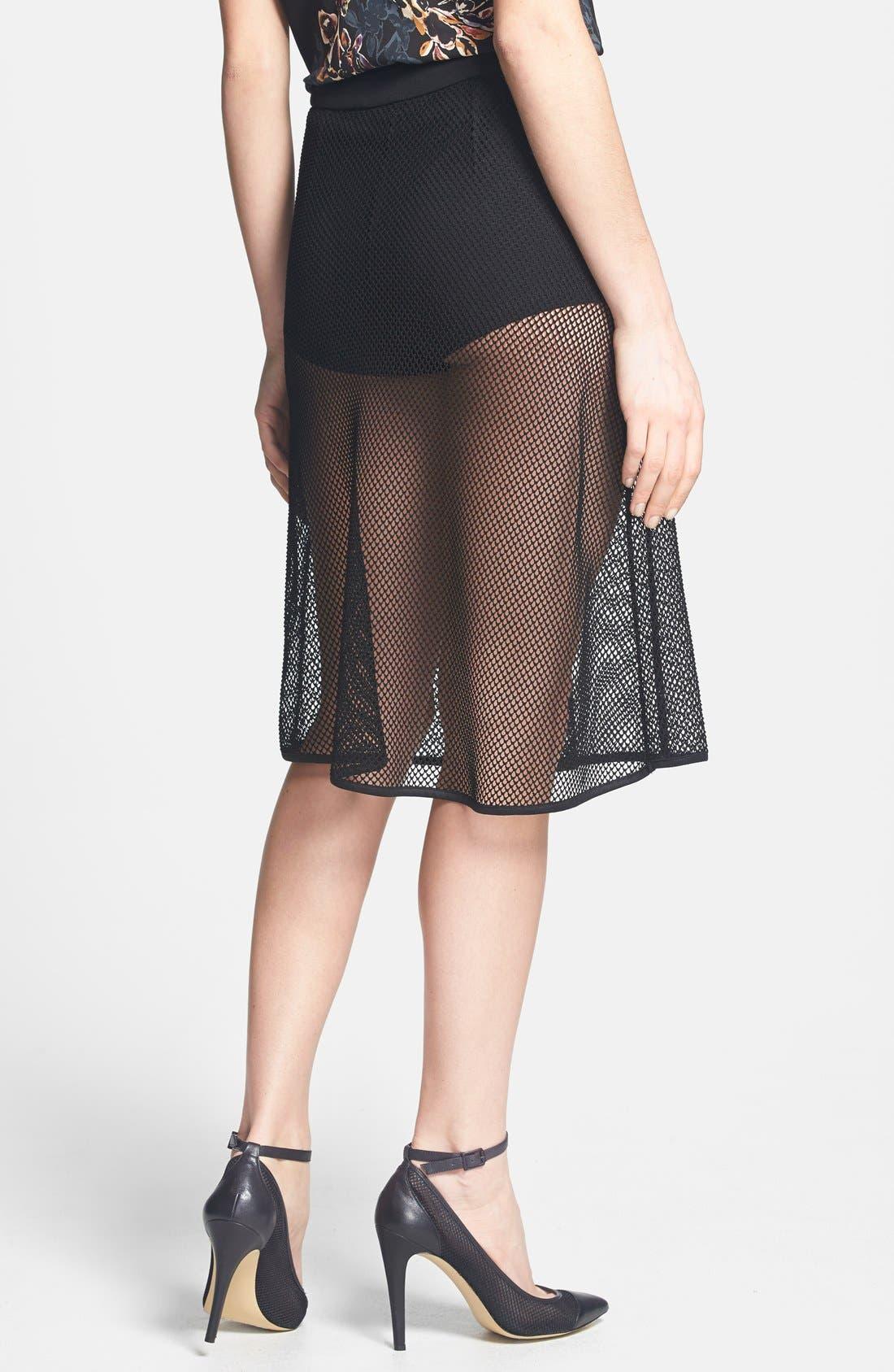 Alternate Image 2  - Dirty Ballerina Mesh A-Line Skirt