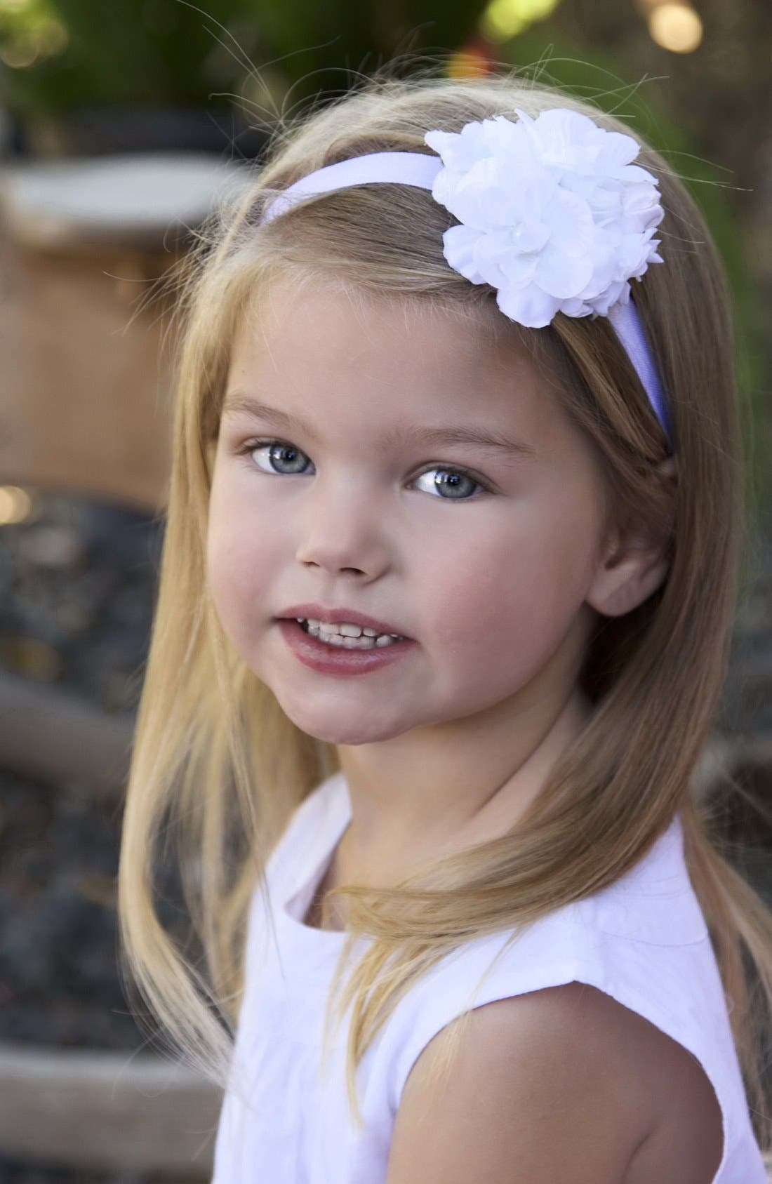 Alternate Image 1 Selected - PLH Bows & Laces Floral Headband (Baby Girls & Toddler Girls)