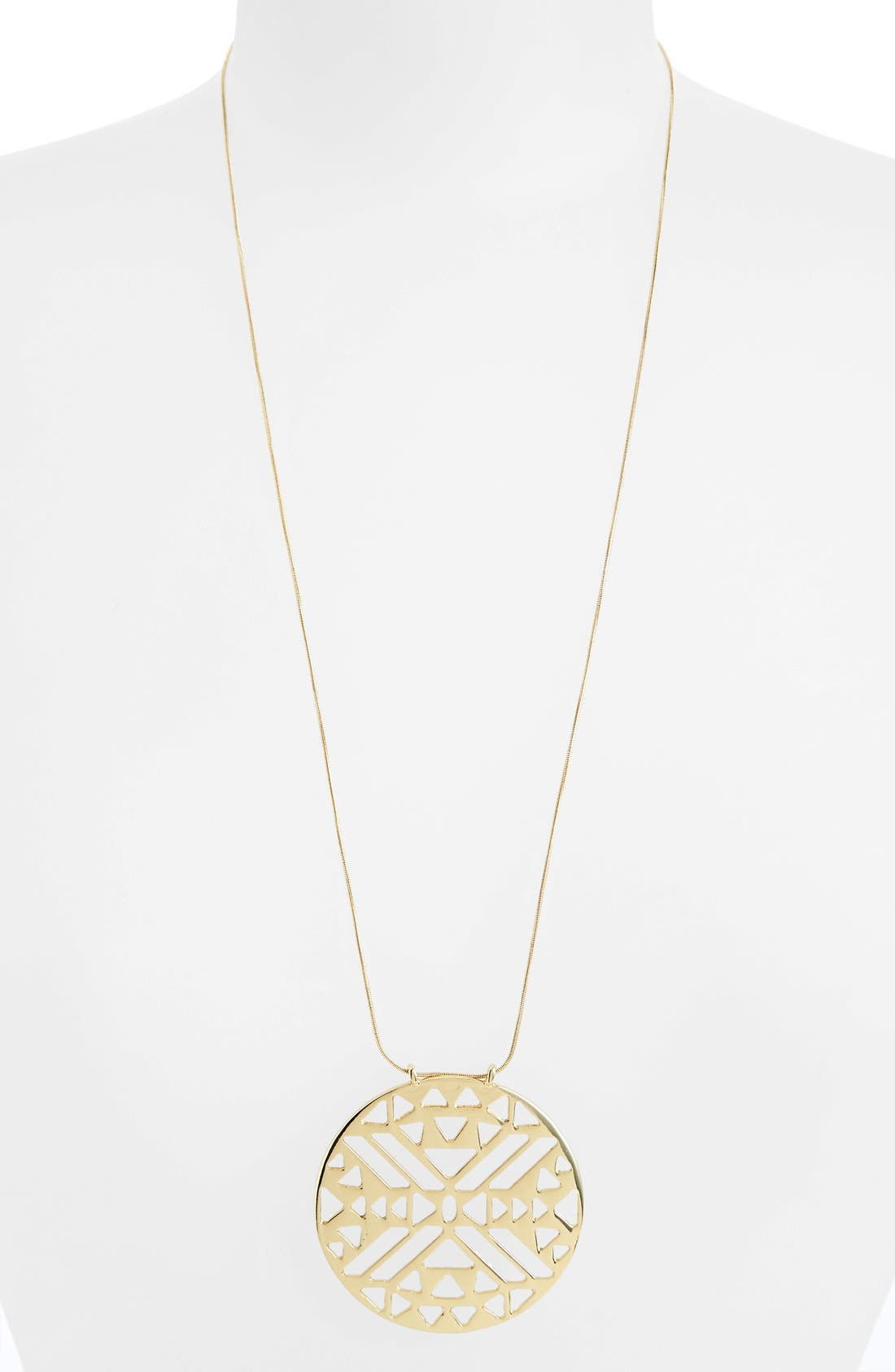 Main Image - Topshop 'Aztec' Cutout Circle Necklace