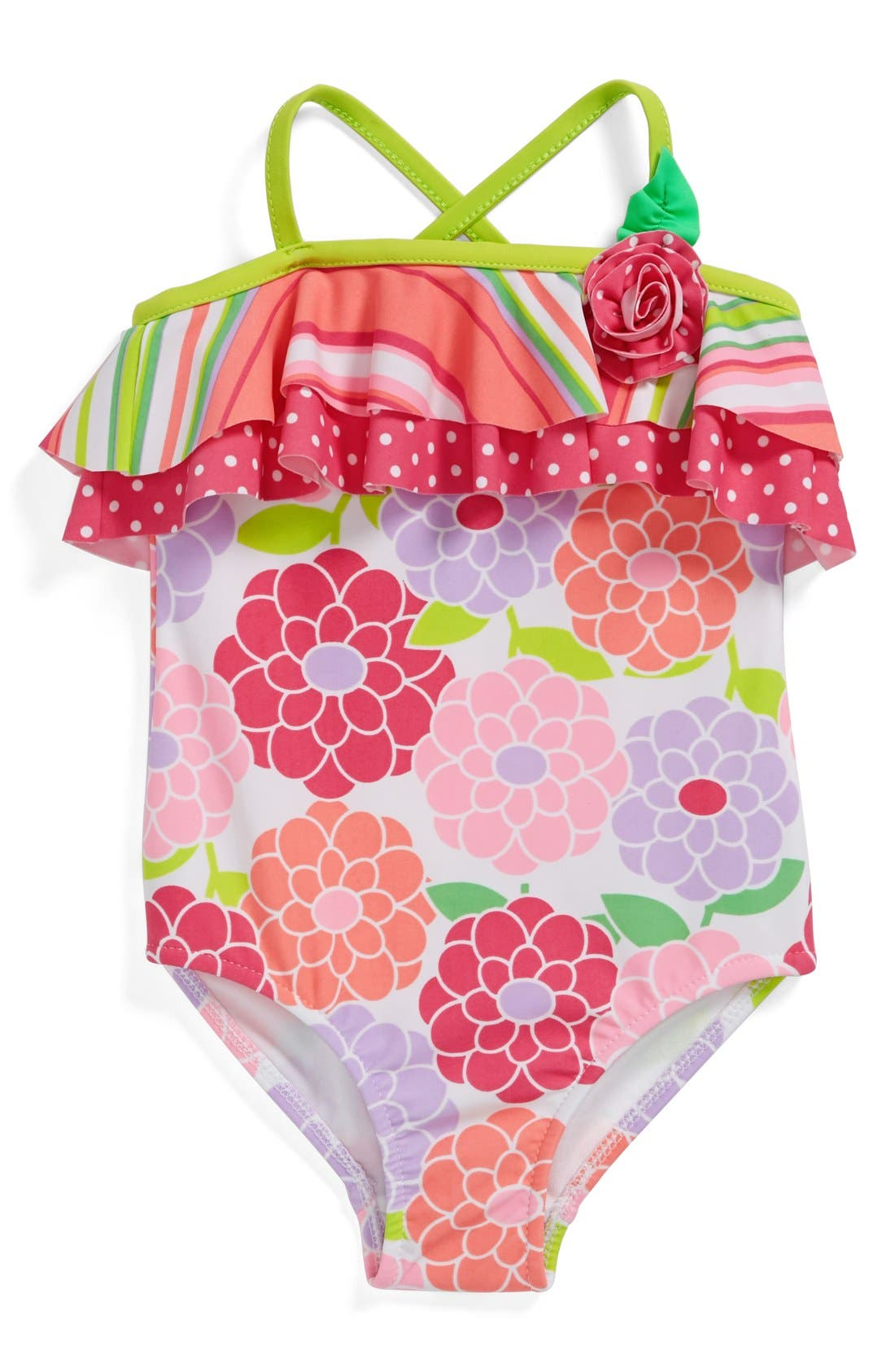 Alternate Image 1 Selected - Love U Lots One-Piece Swimsuit (Toddler Girls)