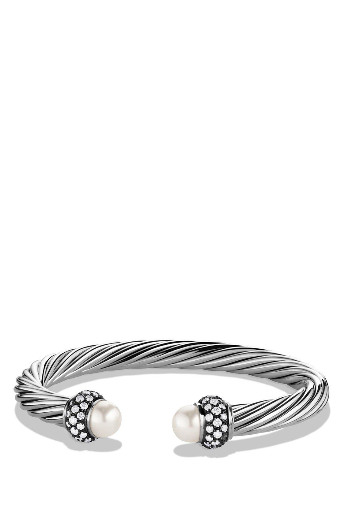 Main Image - David Yurman 'Cable Classics' Bracelet with Pearls and Diamonds
