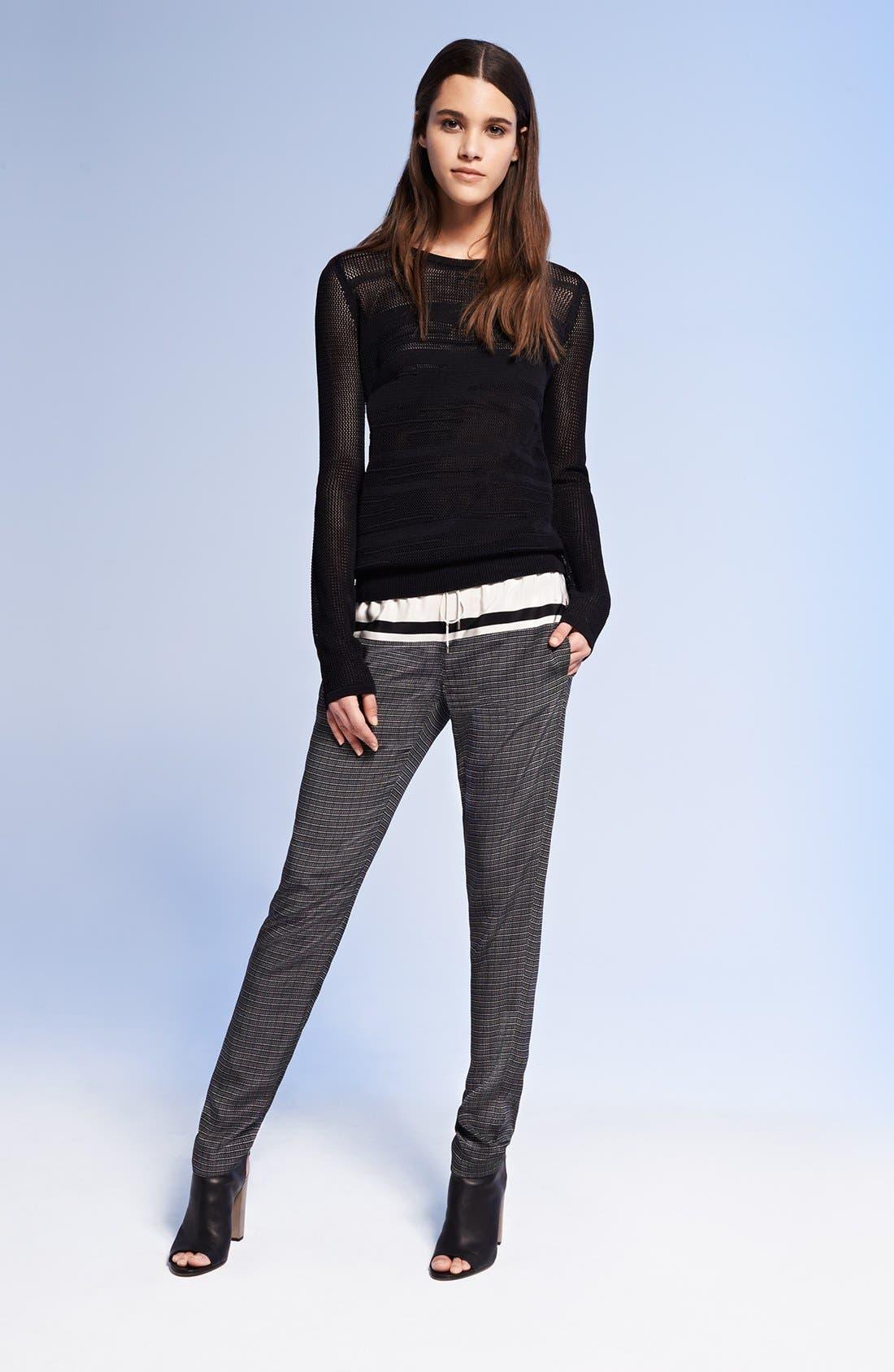 Main Image - Vince Mesh Sweater & Silk Pants