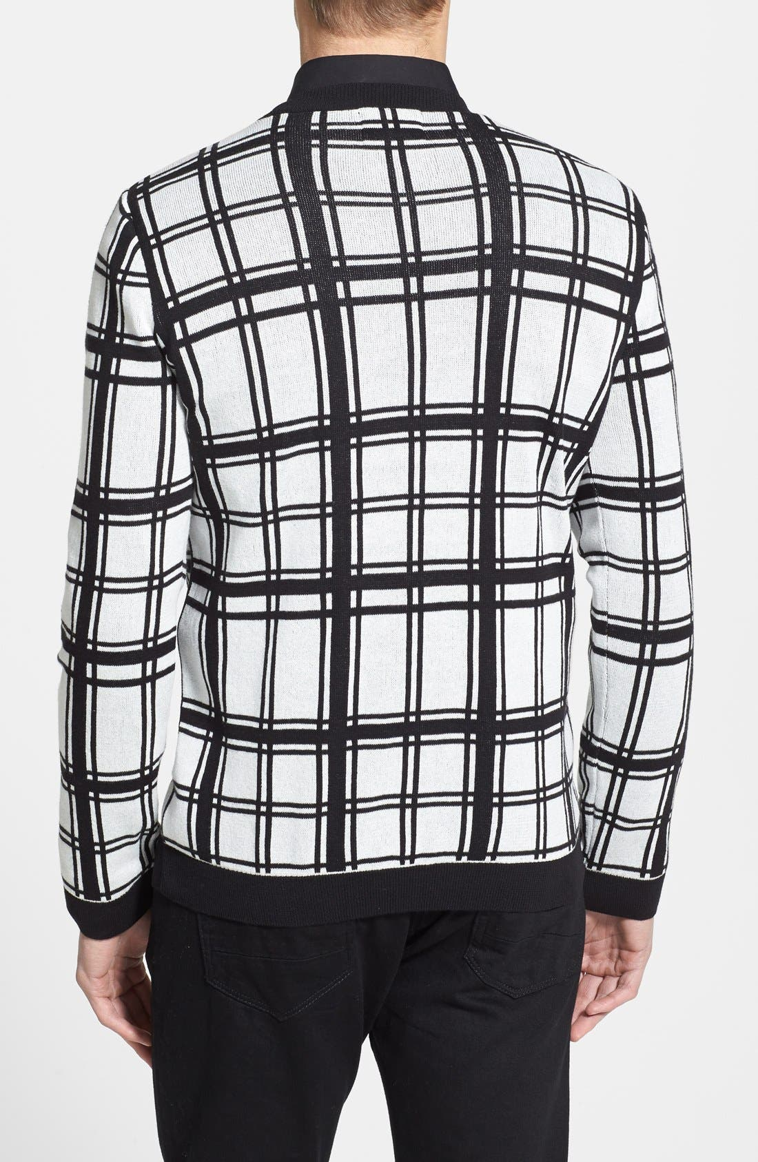 Alternate Image 2  - Topman Check Crewneck Sweater