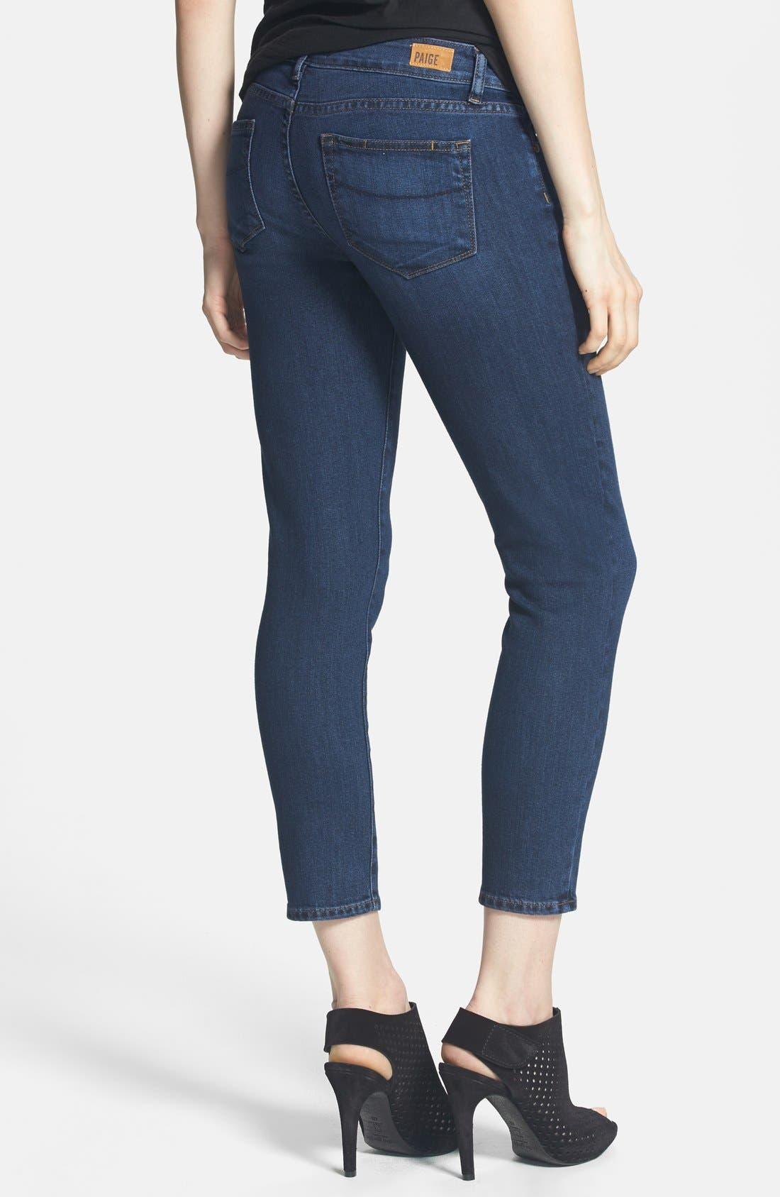 Alternate Image 2  - Paige Denim 'Kylie' Crop Skinny Jeans (Claire)