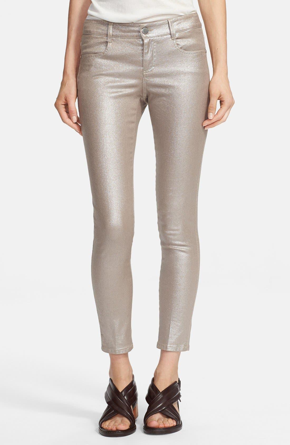 Alternate Image 1 Selected - Stella McCartney Coated Skinny Ankle Jeans