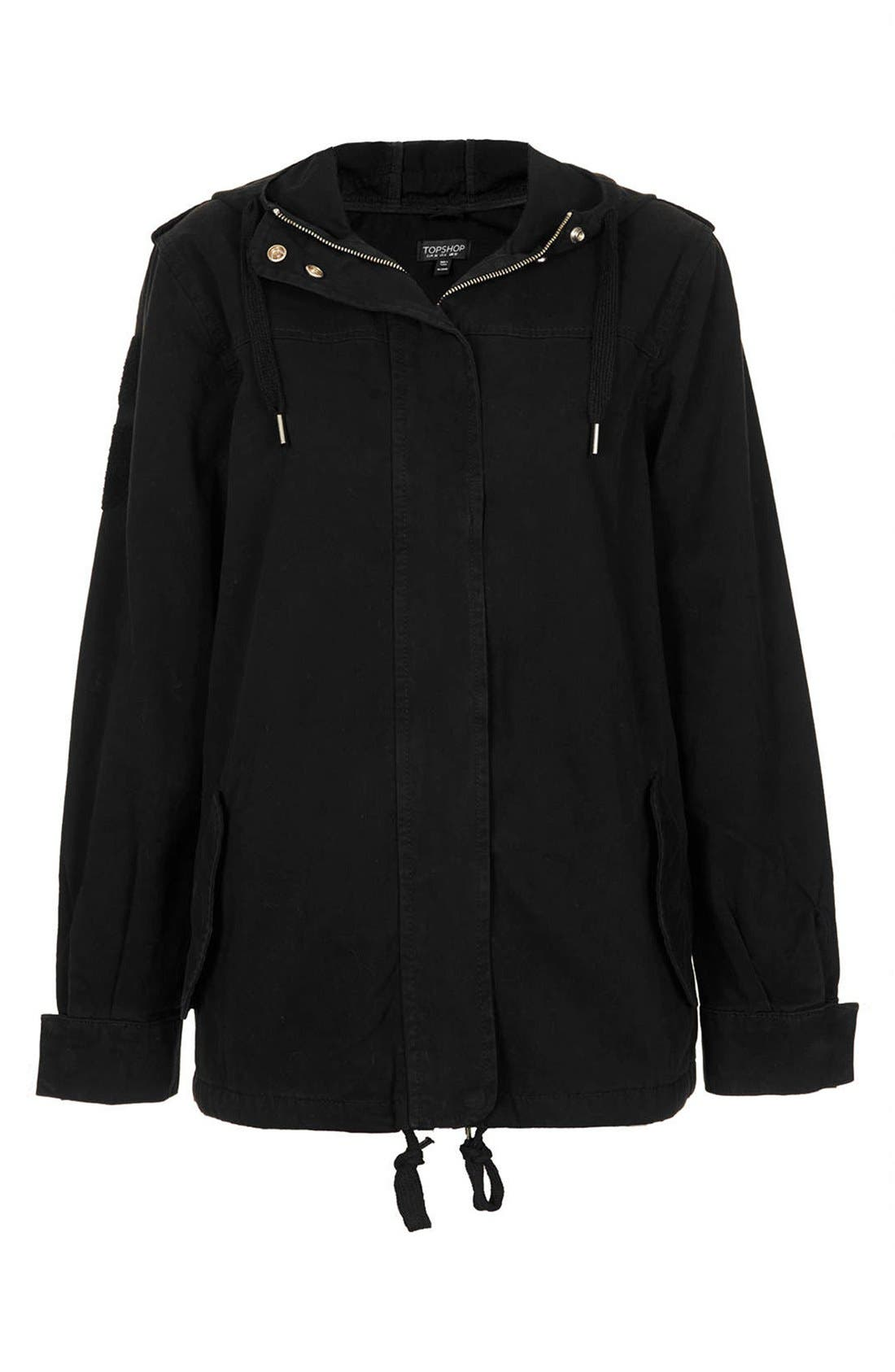 Alternate Image 3  - Topshop 'Ryan' Lightweight Cotton Parka