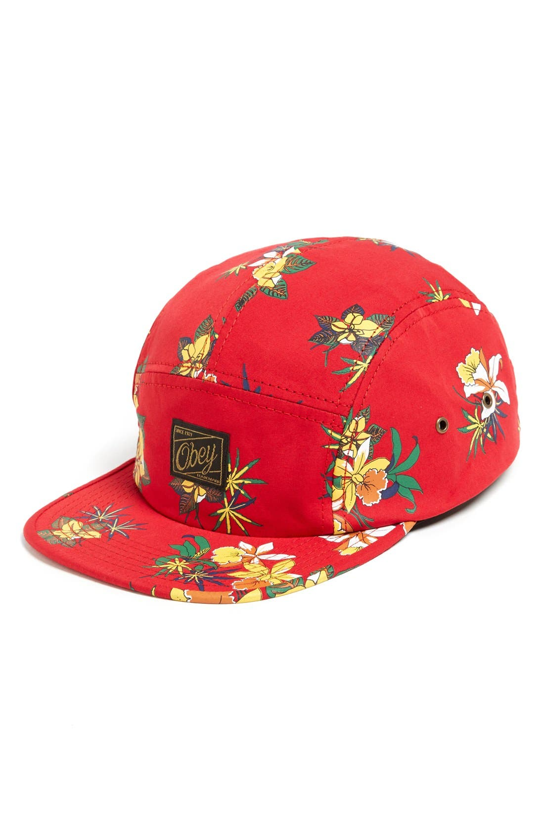 Alternate Image 1 Selected - Obey Floral Print Five-Panel Cap