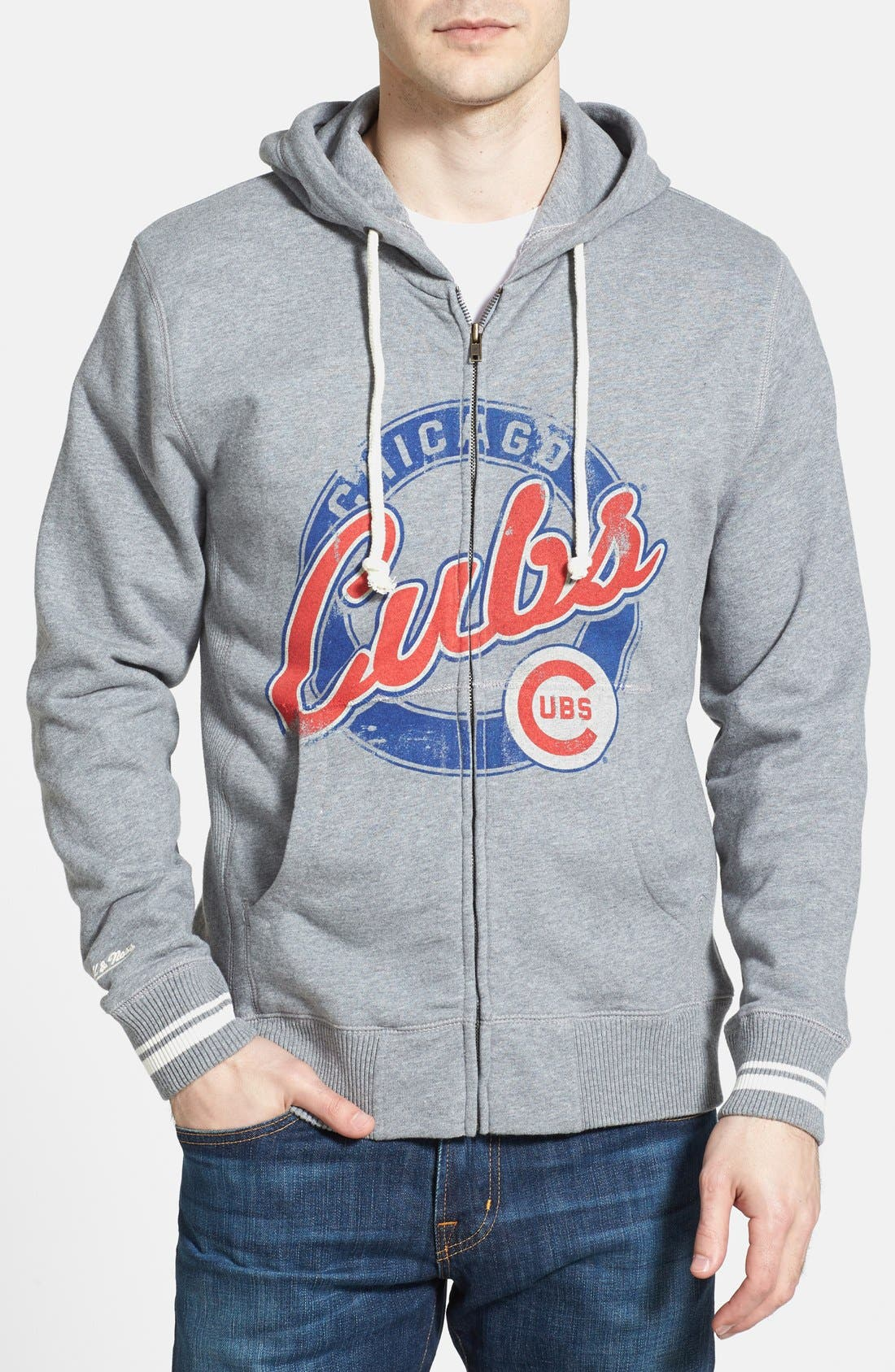 Main Image - Mitchell & Ness 'Chicago Cubs' Full Zip Hoodie