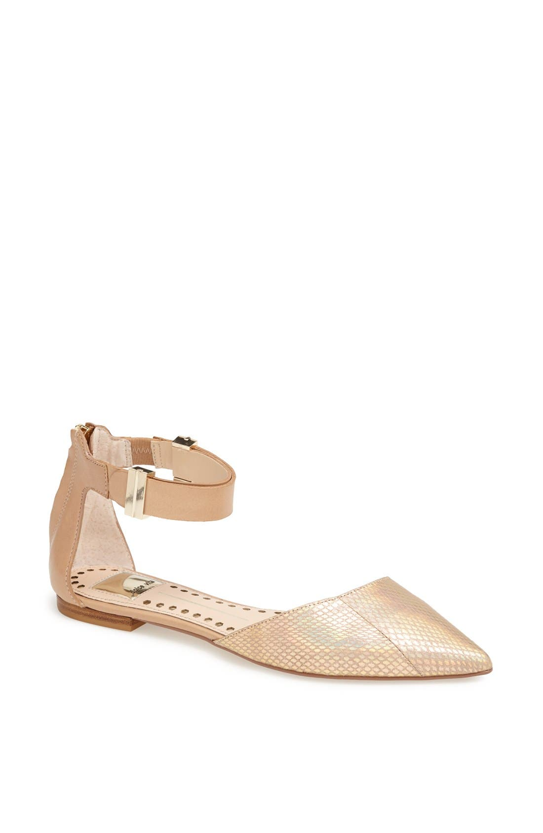 Alternate Image 1 Selected - Dolce Vita 'Agusta' Ankle Strap d'Orsay Flat