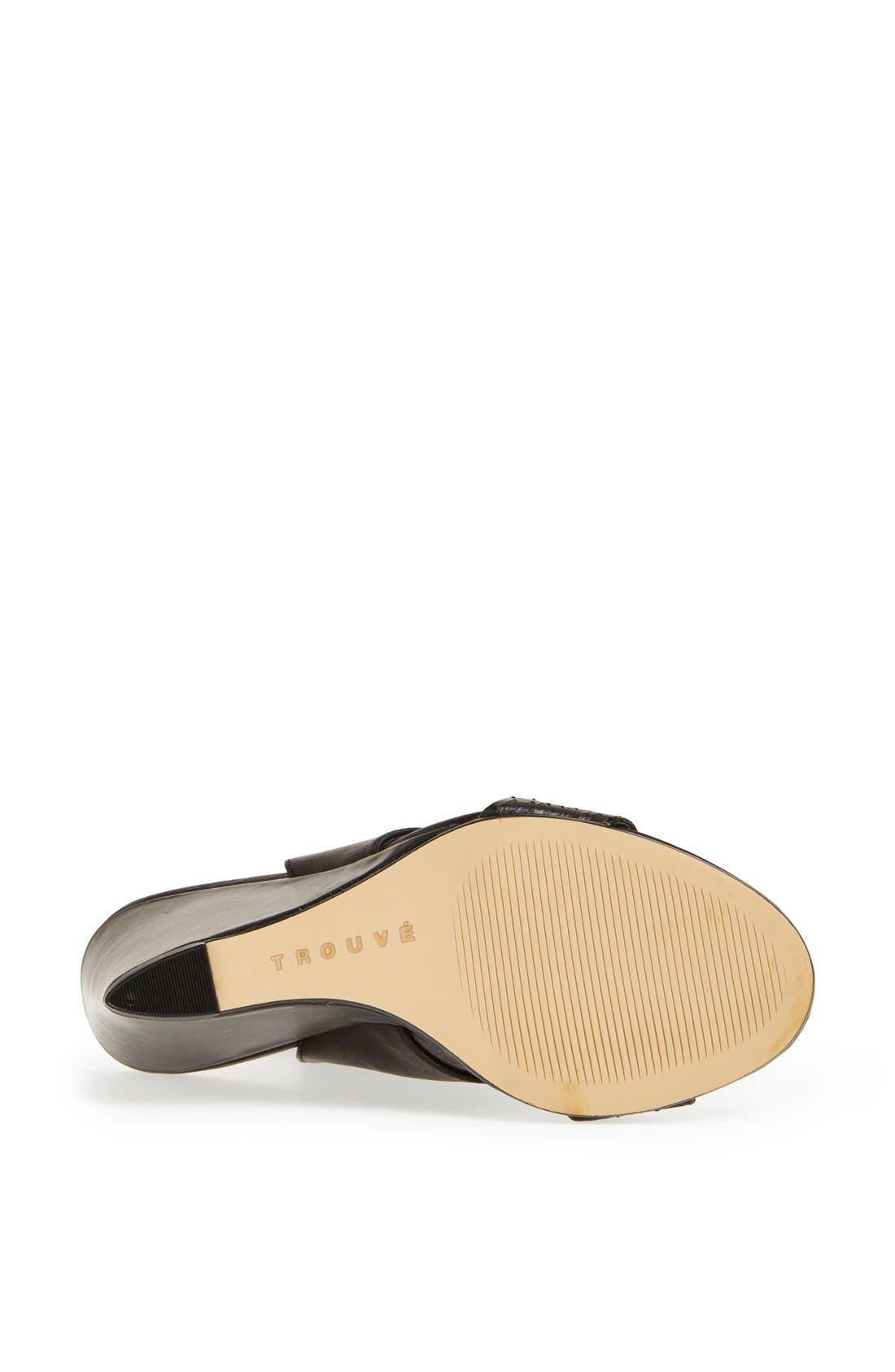 Alternate Image 4  - Trouvé 'Raley' Cuff Wedge Sandal