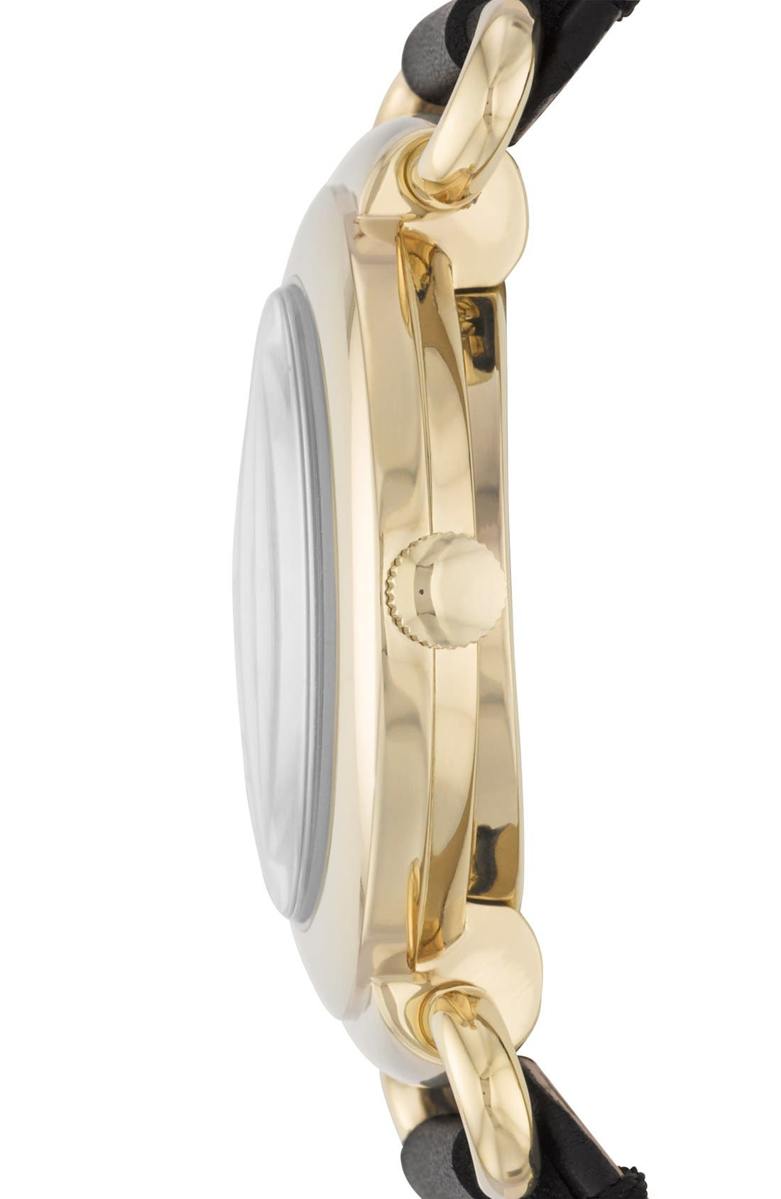 Alternate Image 3  - MARC JACOBS 'Molly' Leather Strap Watch, 36mm