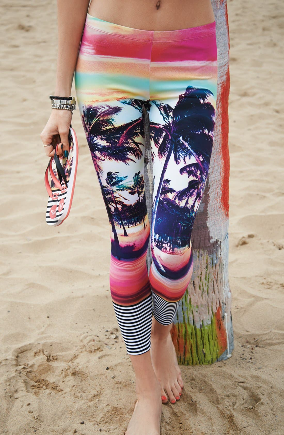Alternate Image 4  - Roxy 'Sunset Stripes' Surf Leggings