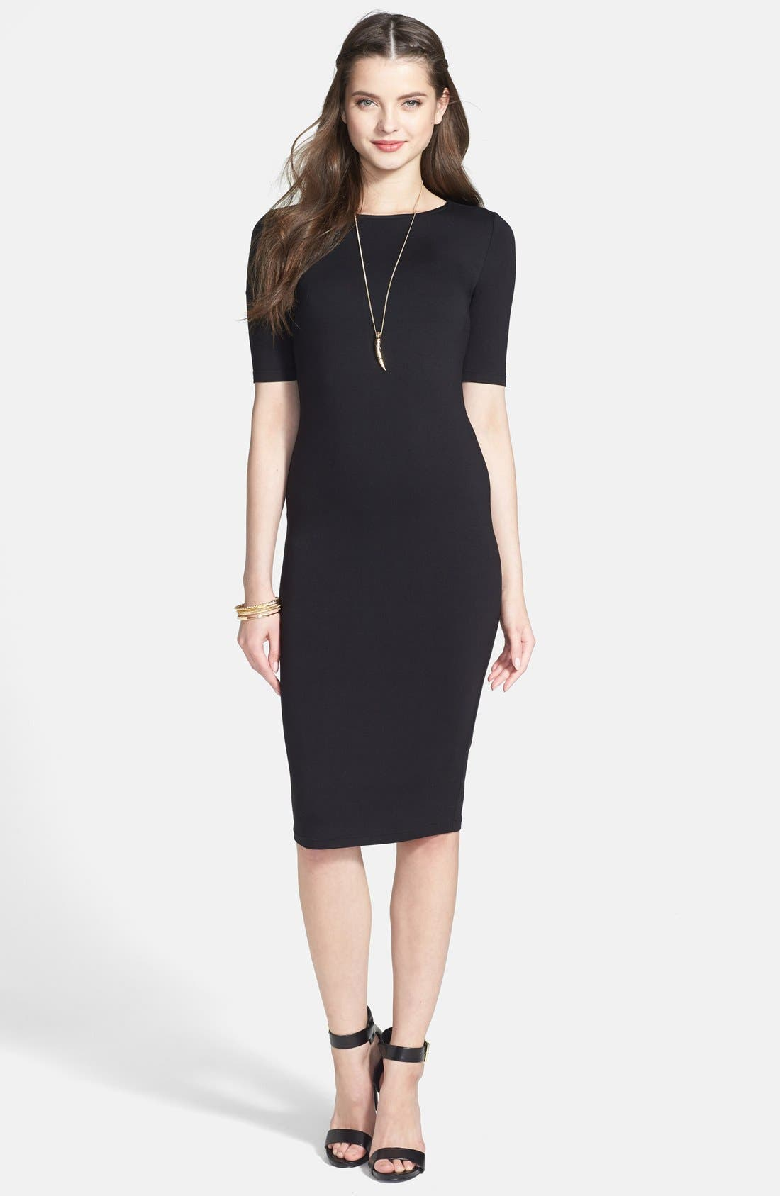 Alternate Image 1 Selected - Soprano 'Lucy' Midi Length Body-Con Dress (Juniors)