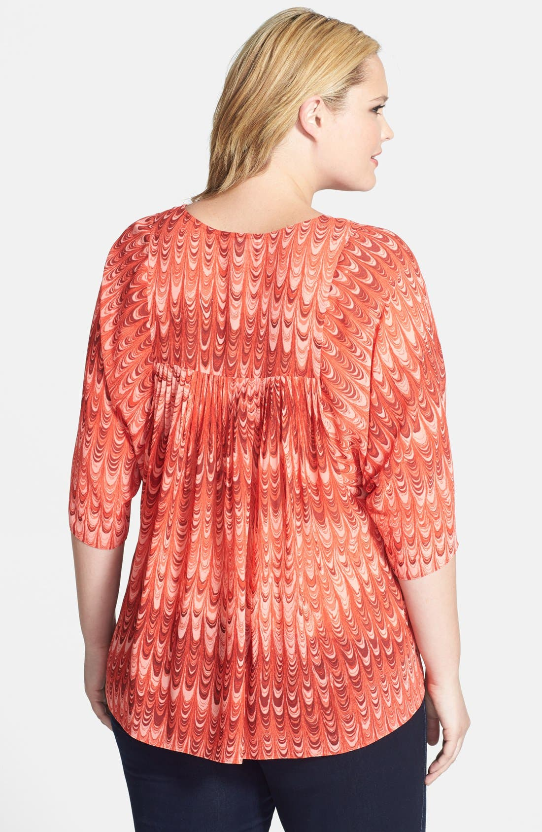 Alternate Image 2  - MICHAEL Michael Kors 'Paper' Flowy Top (Plus Size)