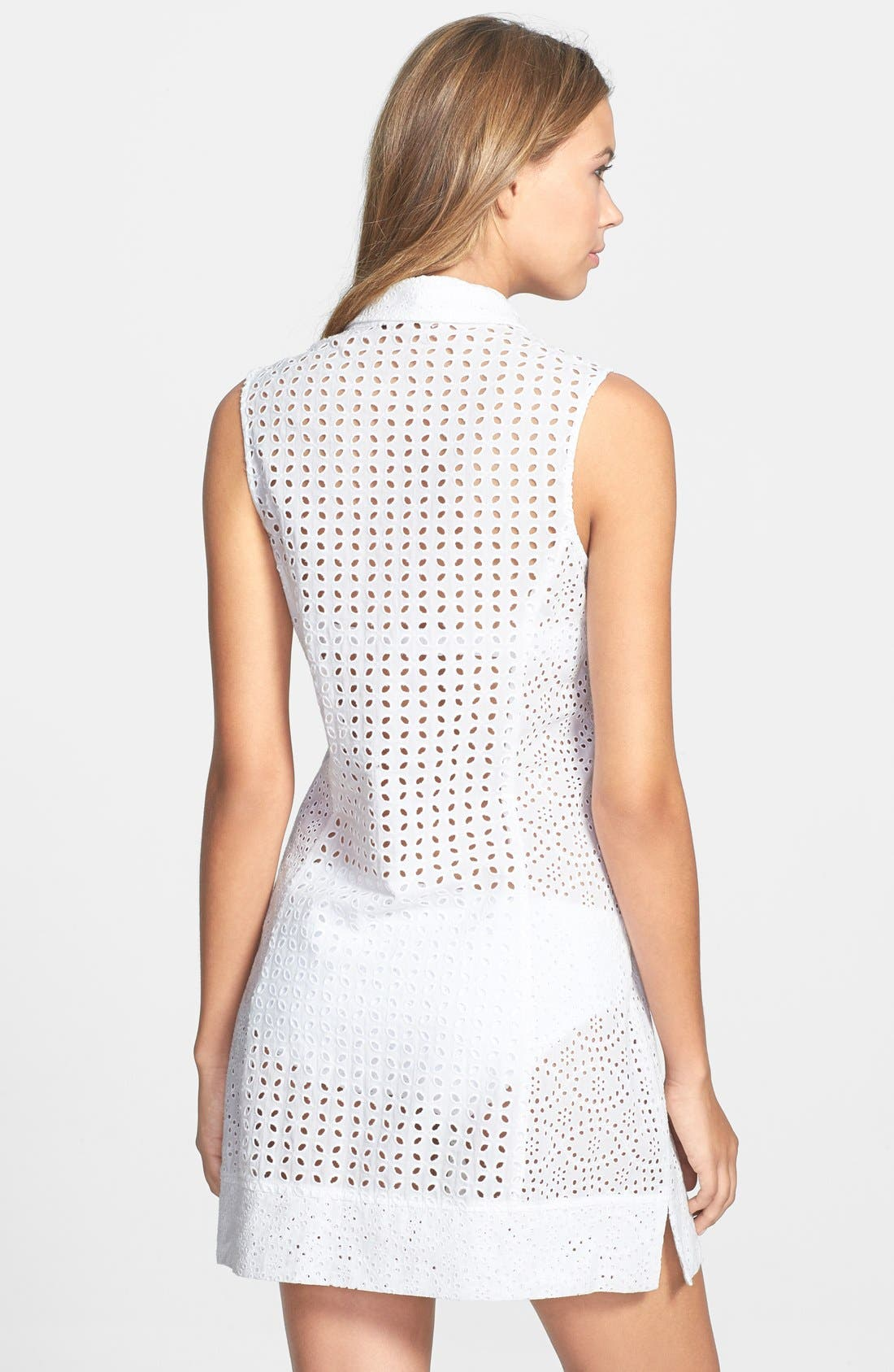 Alternate Image 2  - Nanette Lepore Eyelet Cover-Up Dress
