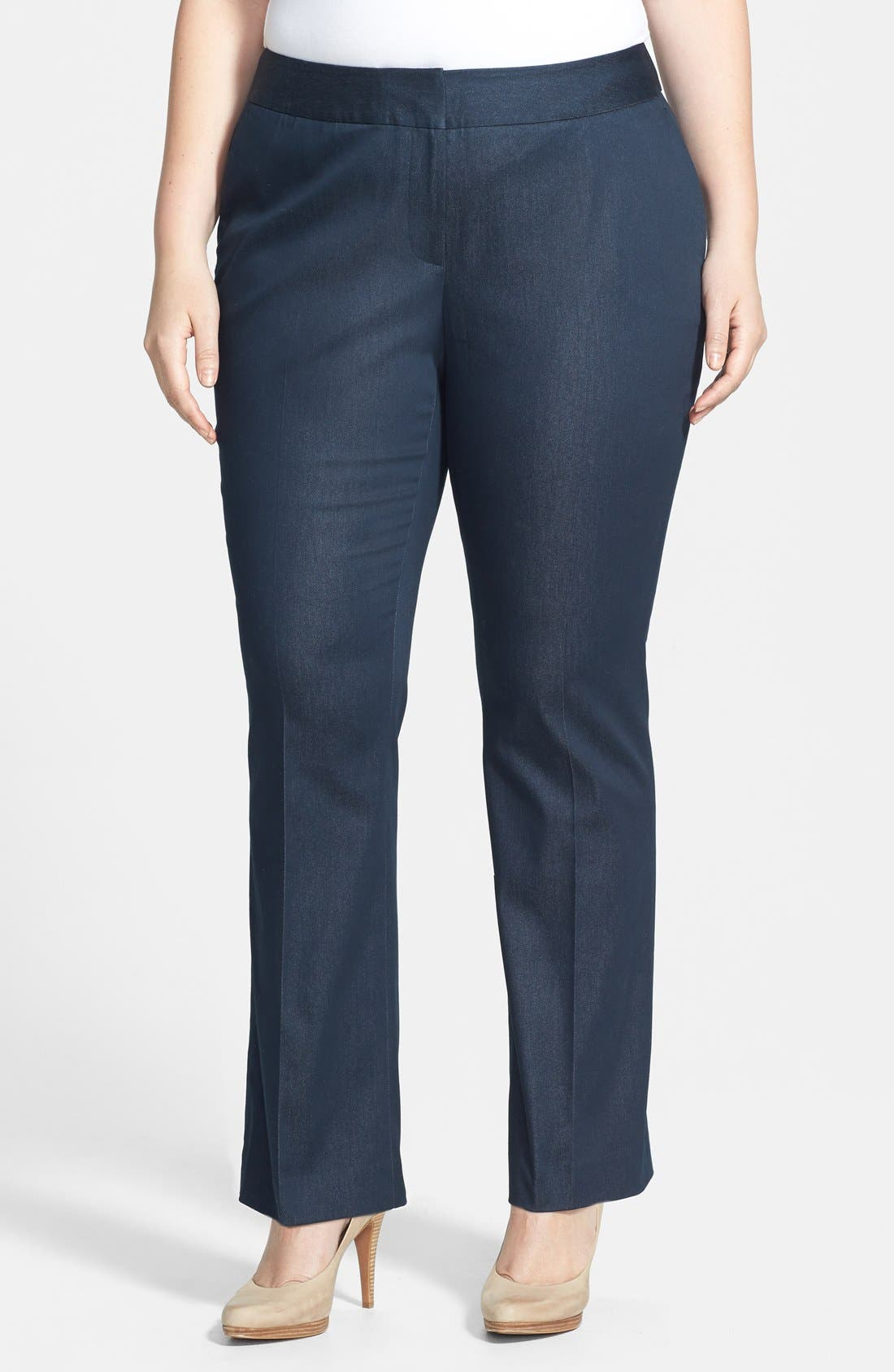 Alternate Image 1 Selected - Vince Camuto Straight Leg Pants (Plus Size)