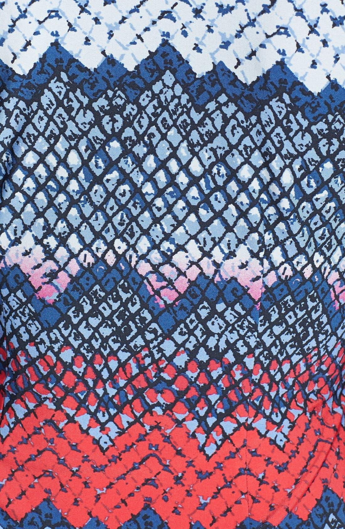 Alternate Image 4  - BCBGMAXAZRIA Print Long Sleeve Jersey Wrap Dress