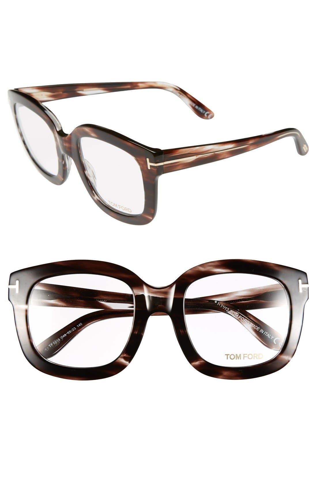 Alternate Image 1 Selected - Tom Ford Bold 53mm Optical Glasses