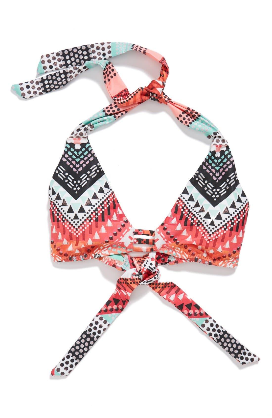 Alternate Image 6  - Becca 'Mayan' Halter Bikini Top