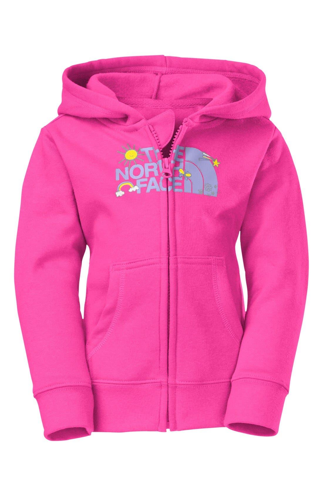 Main Image - The North Face Full Zip Hoodie (Toddler Girls)