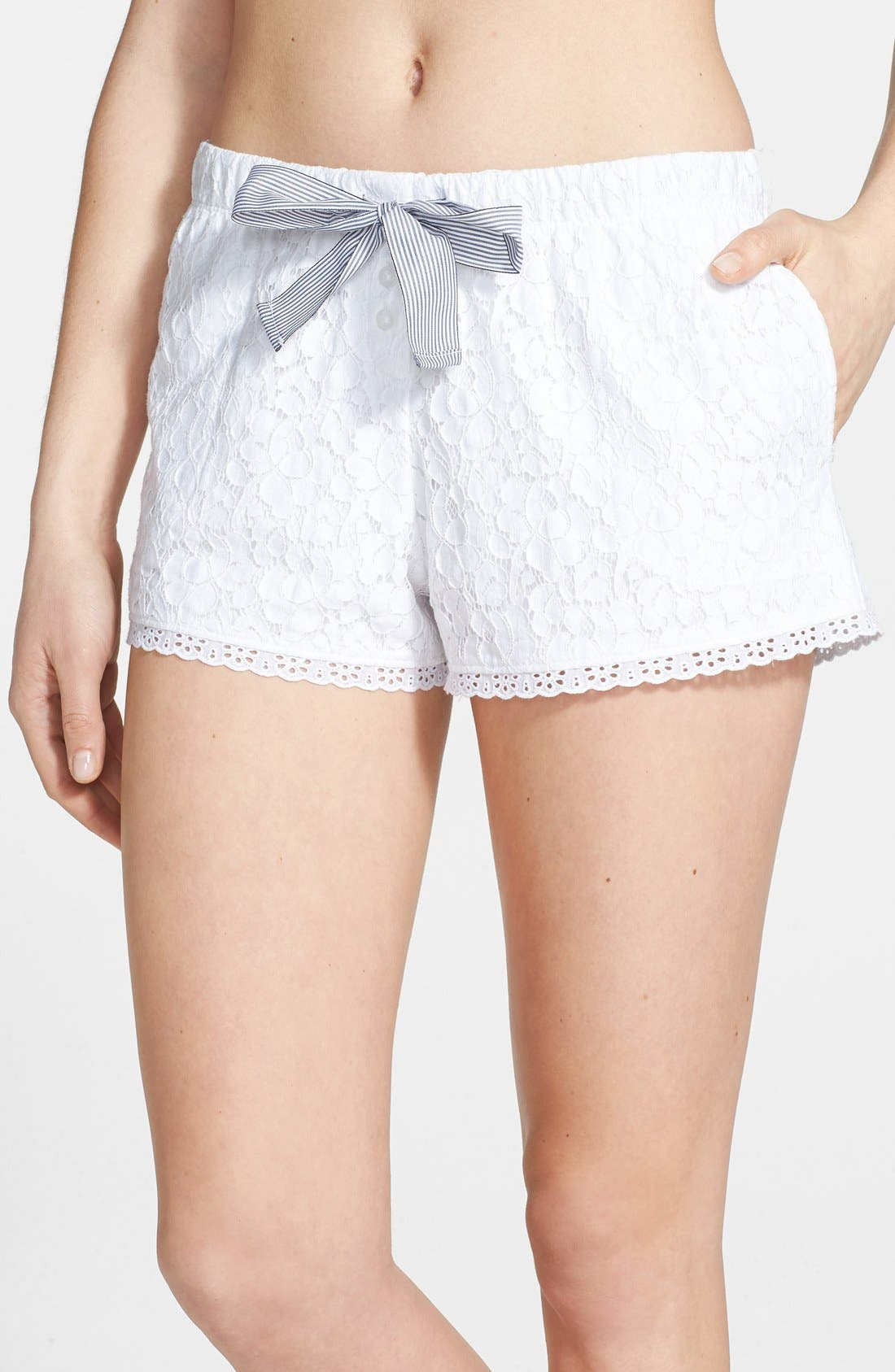 Alternate Image 1 Selected - DKNY 'Pier Side' Floral Lace Boxer Shorts