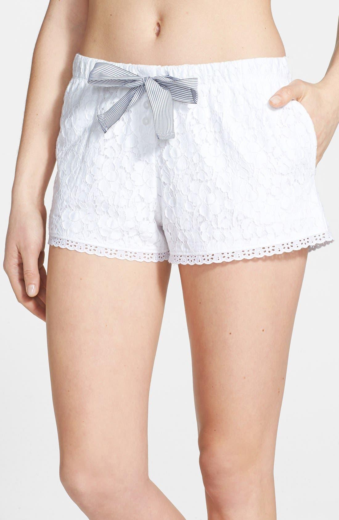 Main Image - DKNY 'Pier Side' Floral Lace Boxer Shorts
