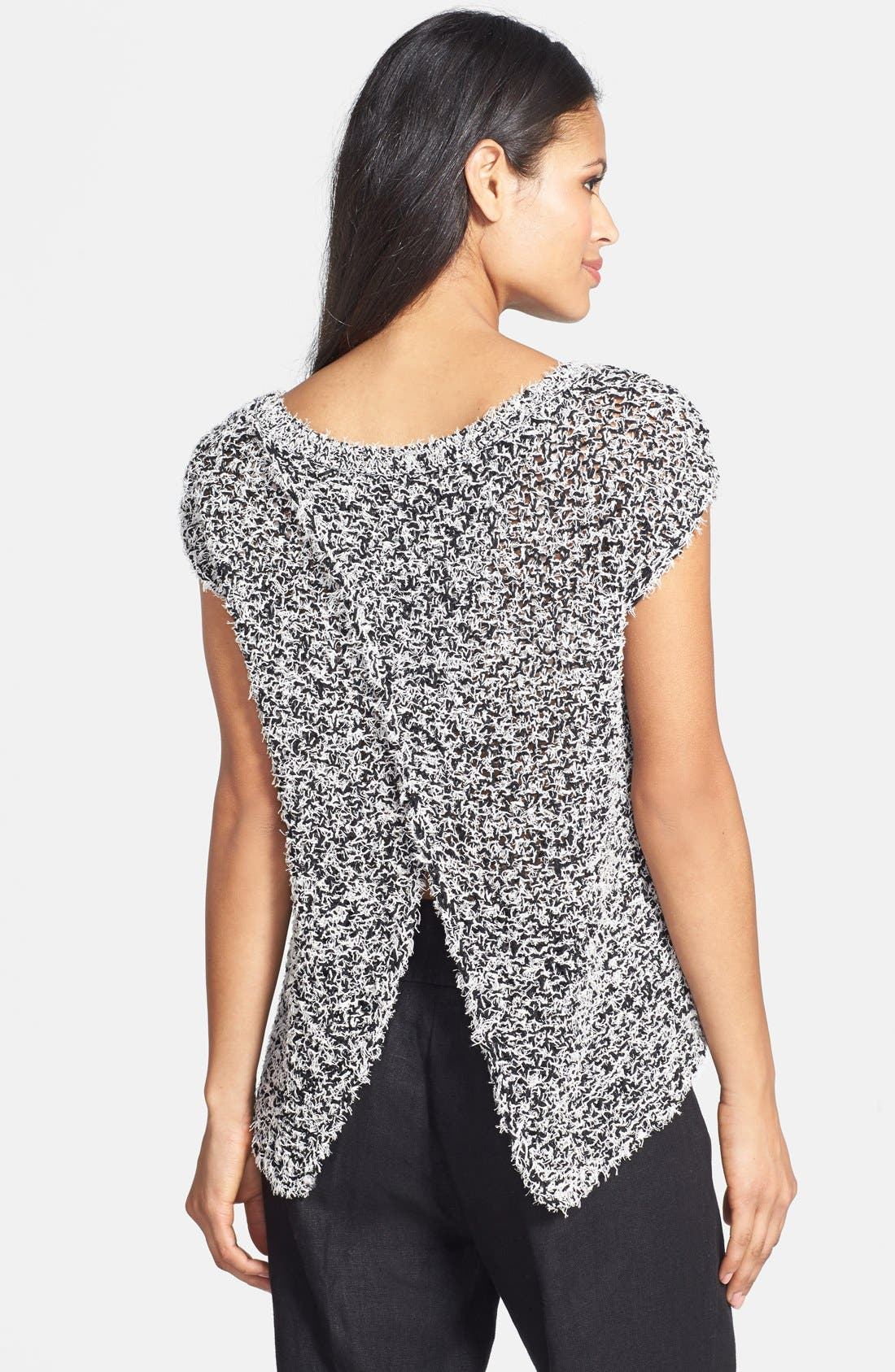 Alternate Image 2  - Eileen Fisher Jewel Neck Wrap Back Sweater (Regular & Petite)
