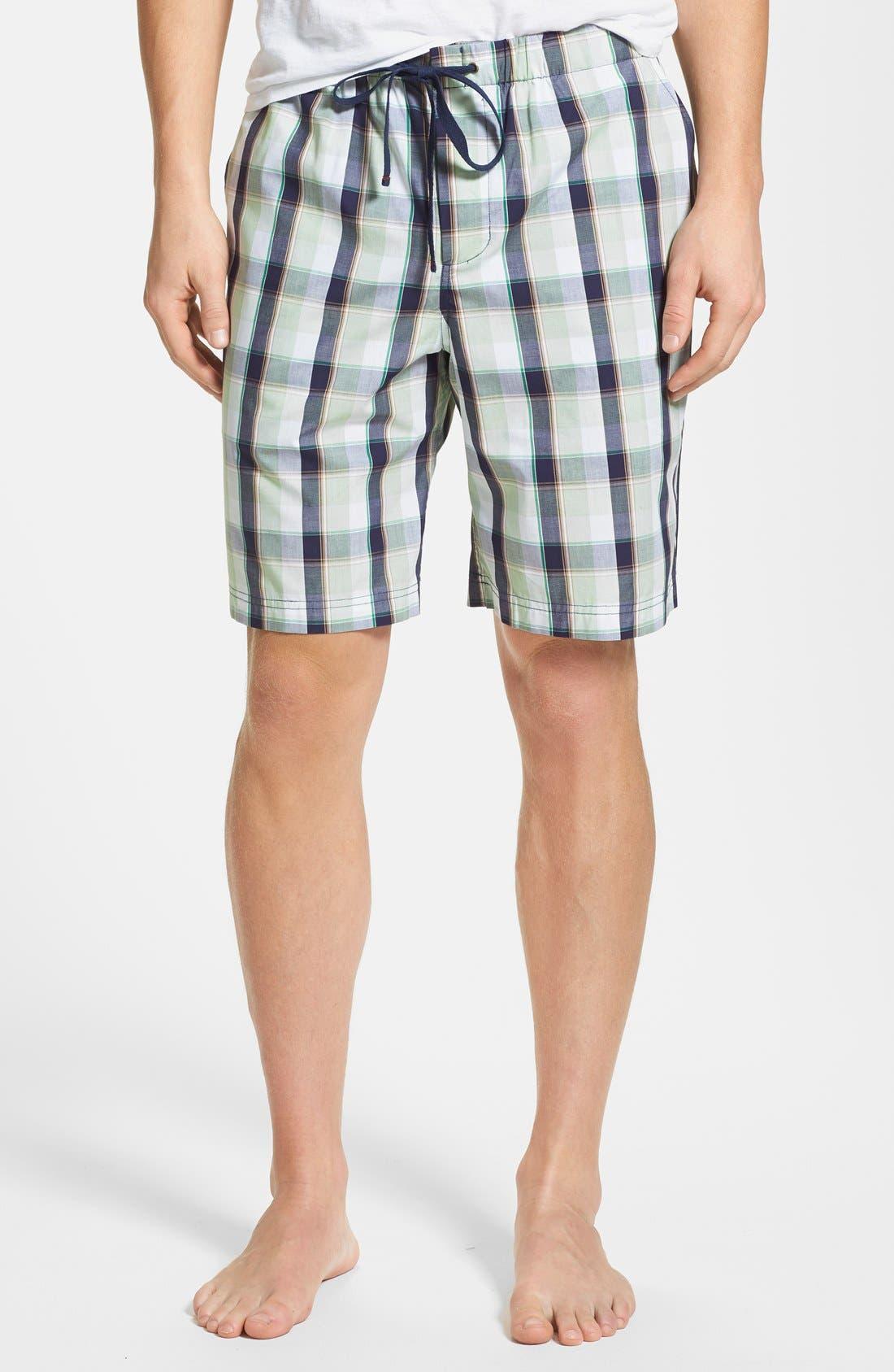 Main Image - Daniel Buchler Woven Cotton Plaid Shorts