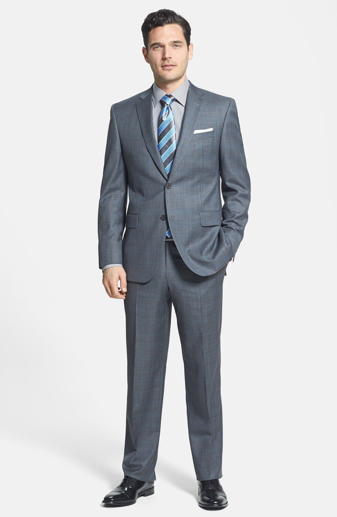Alternate Image 1 Selected - David Donahue Classic Fit Wool Suit