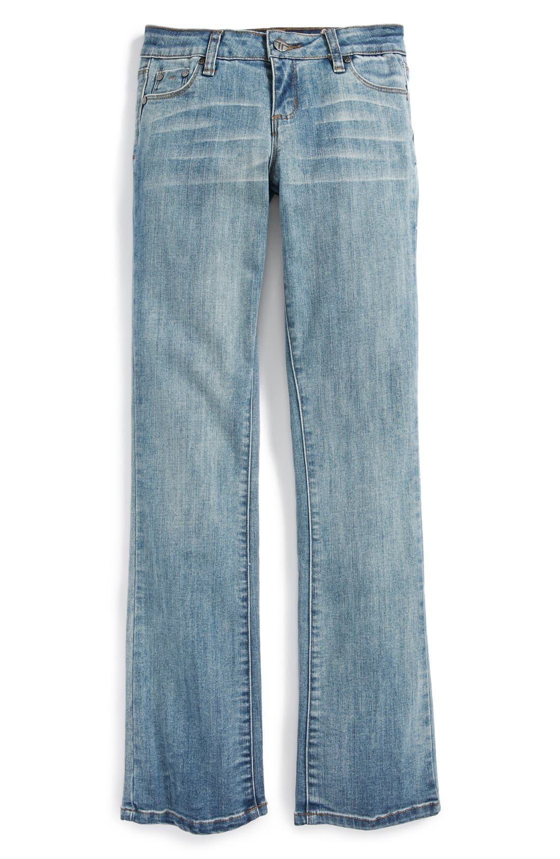 Alternate Image 2  - Tractr Bootcut Jeans (Big Girls)