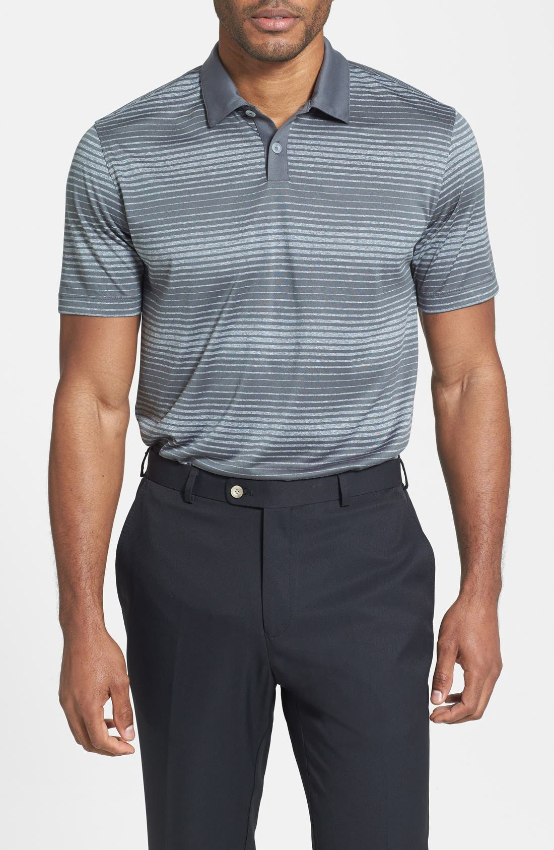 Alternate Image 1 Selected - Nike 'Innovation' Stripe Dri-FIT Polo