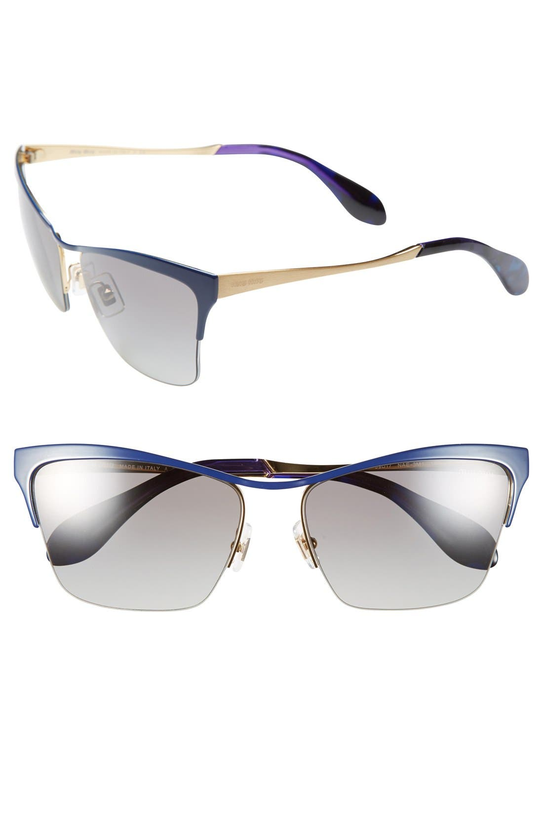 Alternate Image 1 Selected - Miu Miu 59mm Semi Rimless Sunglasses