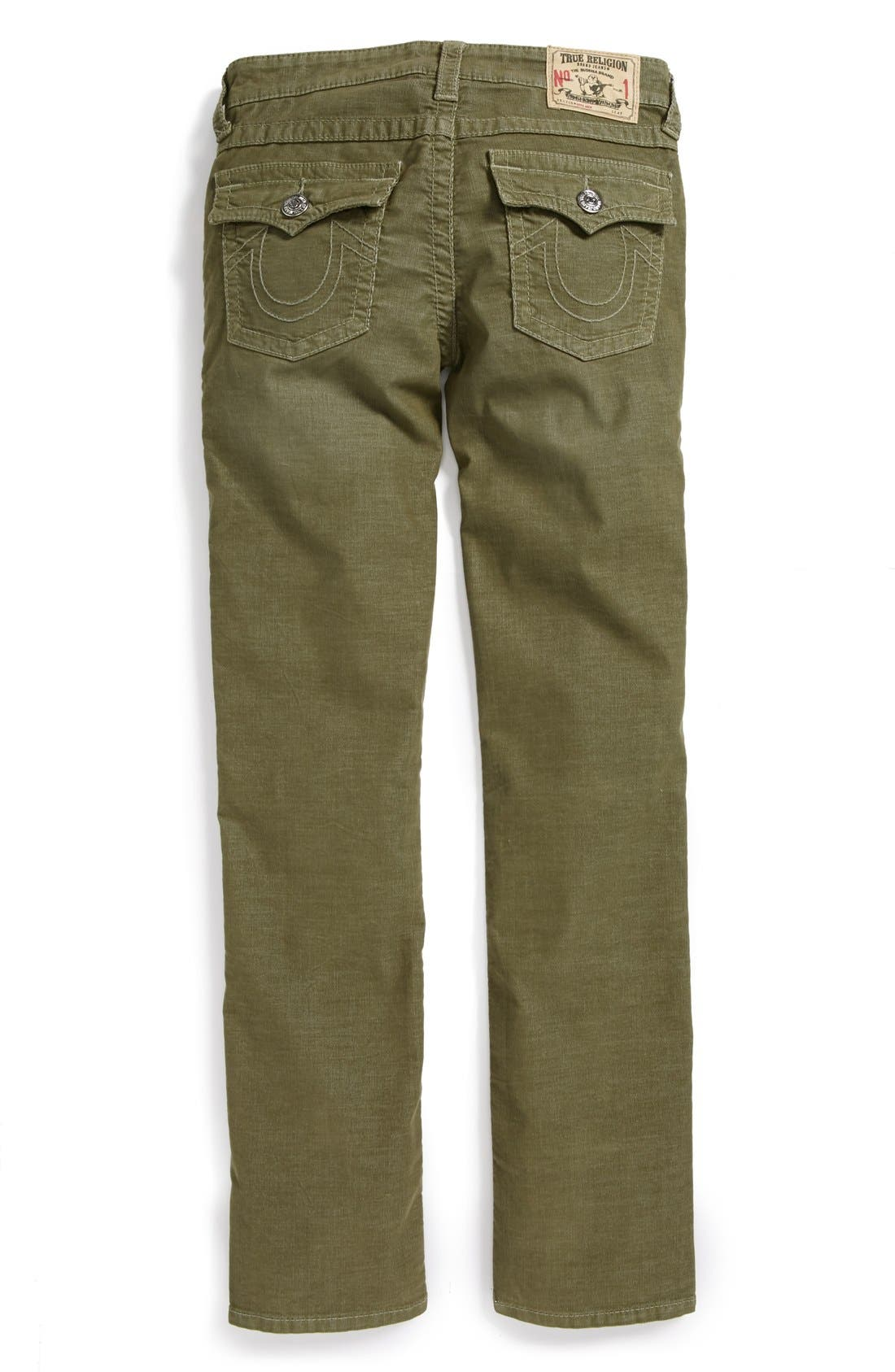 Alternate Image 1 Selected - True Religion Brand Jeans 'Jack' Straight Leg Corduroy Jeans (Big Boys)