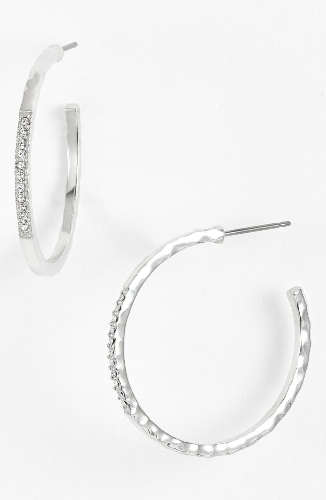 Alternate Image 1 Selected - Judith Jack 'Oval Essence' Hoop Earrings