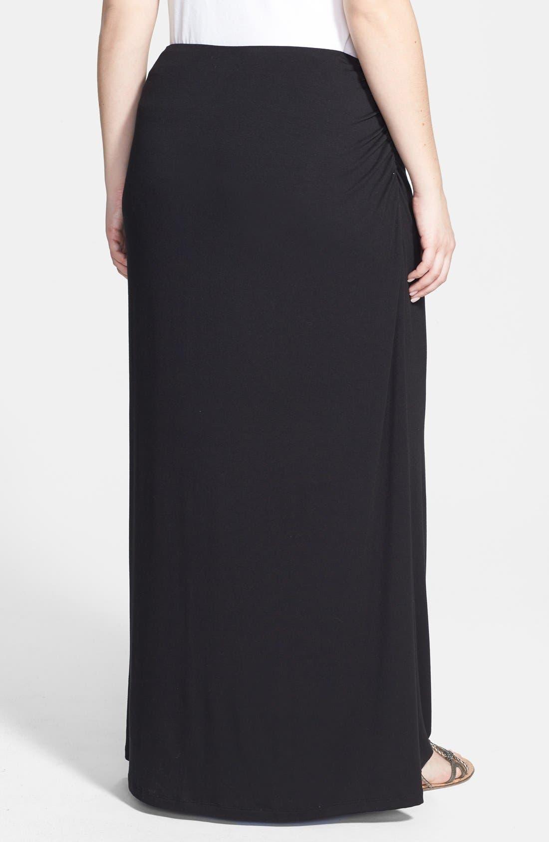 Alternate Image 2  - Caslon® Convertible Maxi Skirt (Plus Size)