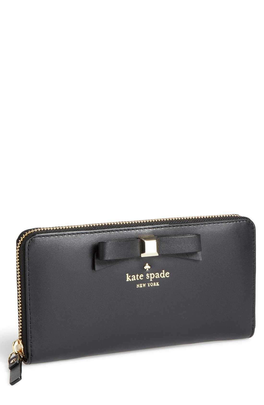 Main Image - kate spade new york 'holly street - lacey' zip around wallet