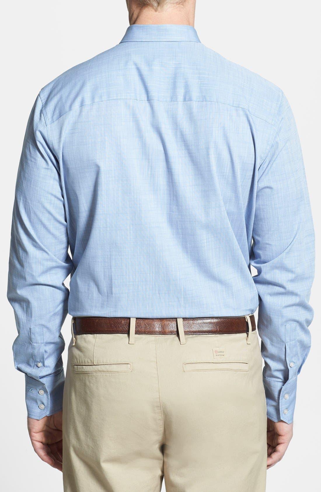 Alternate Image 2  - Cutter & Buck 'Meadows' Oxford Sport Shirt (Big & Tall)