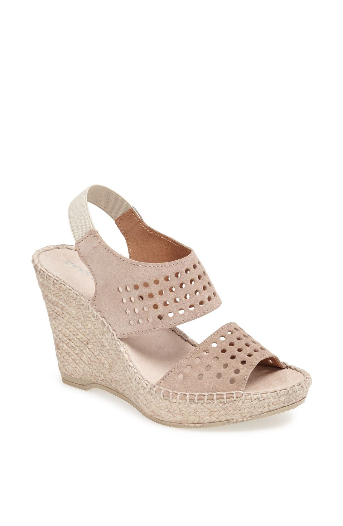 Alternate Image 1 Selected - André Assous 'Cyline' Espadrille Wedge Sandal