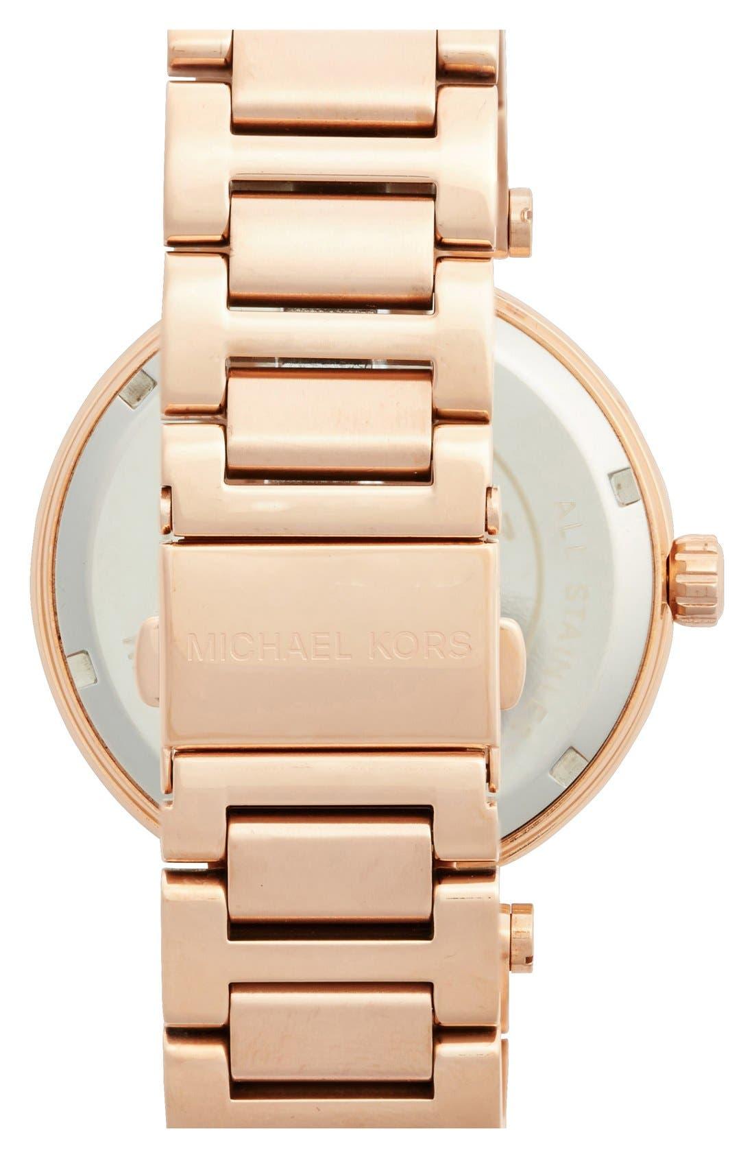 Alternate Image 2  - Michael Kors 'Skylar' Pavé Dial Bracelet Watch, 42mm