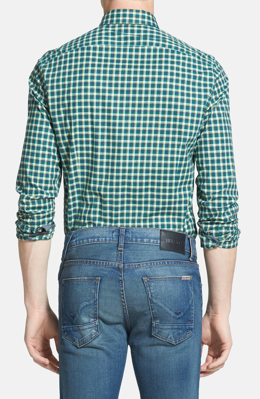 Alternate Image 2  - Kenneth Cole Collection Check Print Sport Shirt