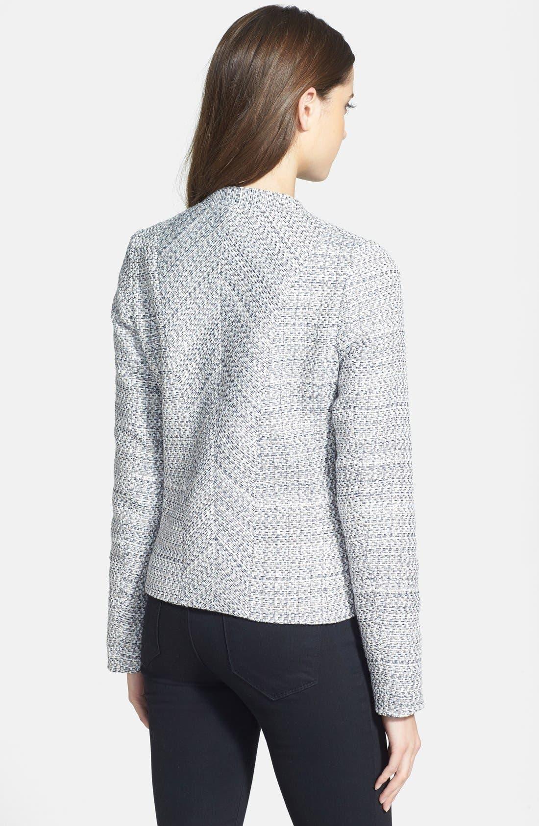 Alternate Image 2  - NYDJ Front Zip Bouclé Jacket