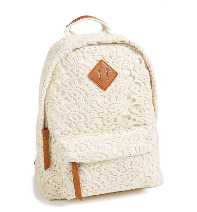 Crochet Nordstrom Bag Pattern : KENDALL + KYLIE Madden Girl Crochet Backpack (Juniors ...