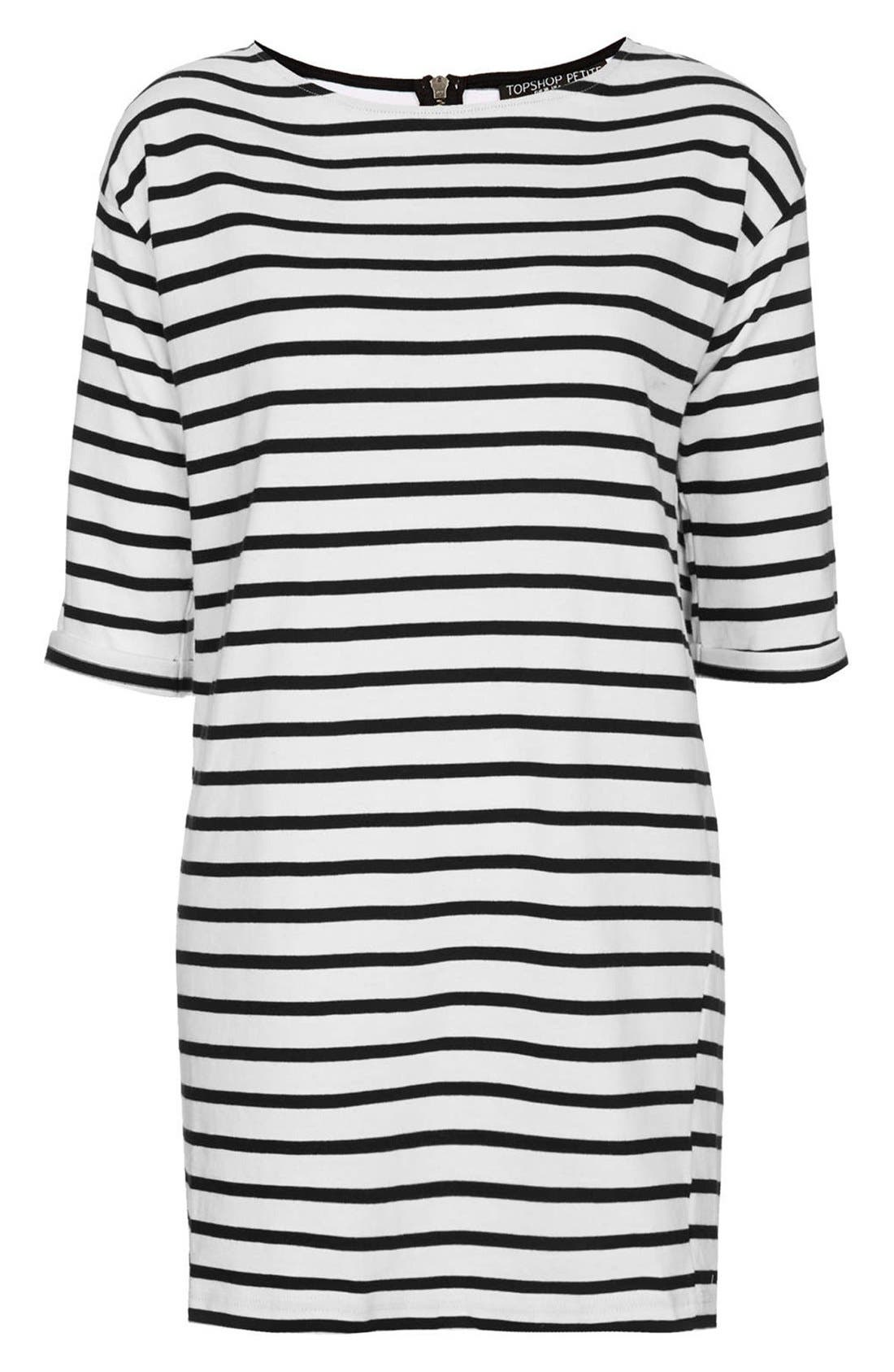 Alternate Image 3  - Topshop Stripe Cotton Tunic Dress (Petite)